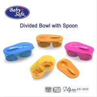 Baby Safe Divided Bowl with Spoon - Tempat Makan Bayi & Sendok
