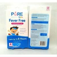 Pure Kids Fever Free - Plester Penurun Panas - 4 Pcs