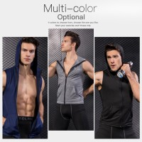 Baru Kaos T-Shirt Compression Tanpa Lengan untuk Gym / Workout /
