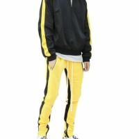 setelan tracksuit jaket & tweatpants kuning