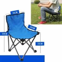 kursi lipat outdoor + sandaran praktis mancing traveling camping