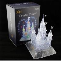 DELTA 105Pcs Puzzle Kristal Transparan 3D Model Istana dengan