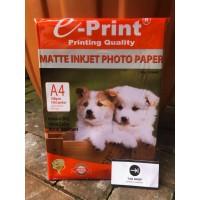 EPRINT MATTE INKJET PHOTO PAPER 108 GSM KERTAS FOTO