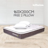 INTHEBOX X QUEEN 160X200 KASUR SPRING BED inthebox X plushtop