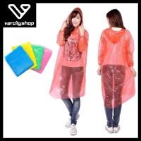Jas Hujan Sekali Pakai Emergency Plastik Tipis Disposable Raincoat