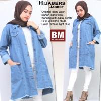 Hijabers Long Jacket jeans / tunik (2 warna)