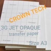 3G JET OPAQUE Transfer paper kaos gelap terang. Dark transfer paper A3