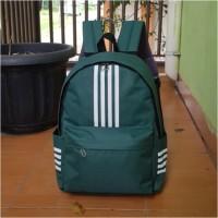 backpack stylish tas ransel sekolah termurah - Hijau