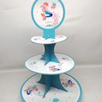 cupcake stand mermaid glitter / cupcake tier mermaid glitter