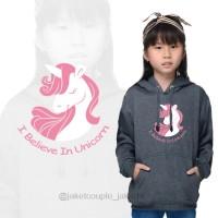 GRATIS NAMA/Jaket/Sweater Jumper Hoodie Anak Cewek Unicorn/Kuda Poni.