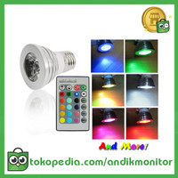 TaffLED Bohlam LED RGB + Remote Control - EH87 - Silver