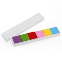 Bantalan Tinta Minyak 6 Warna DIY untuk Stempel Karet Kayu