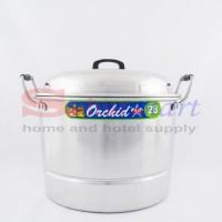 Panci masak Serbaguna / Panci kukusan Aluminium Orchid 28cm