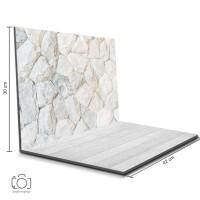 Alas Foto Lipat Batu Putih 42x30 cm / Background Foto Olshop (SNL-01)