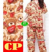 Piyama Murah - CP / Katun jepang / Baju Tidur / Teddy Bear