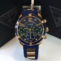 Jam tangan guess W1234L4 rubber strapp