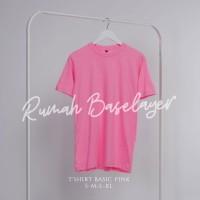 Kaos Polos Baju Oblong Pink Baby Combed 30's Pria Wanita Unisex
