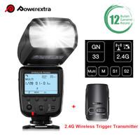 Powerextra Flash Speedlite with 2.4G Wireless Trigger Transmitter Kit