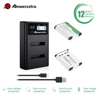 Powerextra 2-Pack Baterai NP-45A ,NP-45B,NP-45S and Smart Dual Charger