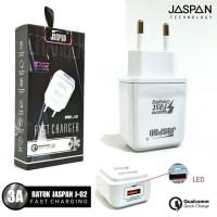 KEPALA CHARGER JASPAN 1 USB J-02 3A FAST CHARGING ORIGINAL