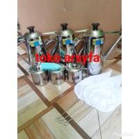 teko thai tea 3 teko, 3 mug, 3 saringan + hand mixer