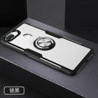OPPO F7 HYBRID CASE STANDING RING MAGNETIC CLEAR CASE SHOCKPROOF