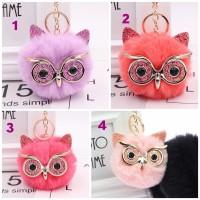 Gantungan Kunci Pom Pom / Gantungan Kunci Owl