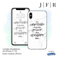 Garskin iPhone X XS Cover Skin iPhone 10 10s Stiker iP X XS JW Series
