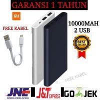 POWERBANK XIAOMI MI 2i 10000MAH ORIGINAL Dual USB Port PB - Silver - silver