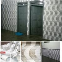 Wallpaper sticker Dinding Gelombang Putih Abu Abu 10 M