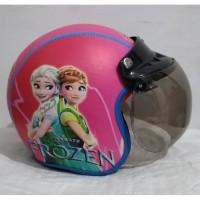 helm bogo anak SNI karakter frozen pink