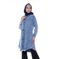 Atasan Valencia Tunik Jeans|Muslim Wanita Original | Pakaian Muslimah
