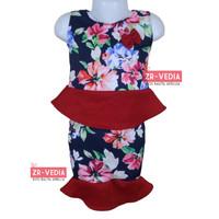 Setelan Zizi Anak uk 1-2 Tahun / Atasan Bawahan Rok Perempuan Baju