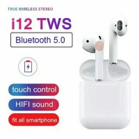 i12 tws airport touch bluetooth 5.0 earphone 3D wireless versi baru