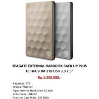 SEAGATE External Harddisk Back Up Plus Ultra Slim 2TB
