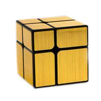 Rubik Mirror 2x2 Yongjun Speed Cube Gold Brushed