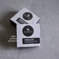 Rodeos Charcoal Soap Sabun Muka Pria 80 Gram