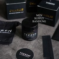 Pomade Tezzen Charlie Activated Charcoal Clay FREE SISIR CARBON