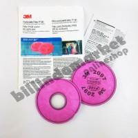 Filter Masker 2097 P100 3M Respirator 6200 7502 untuk Serbuk Debu Cat