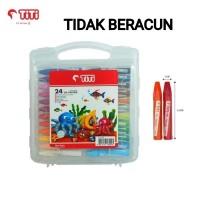 GROSIR Crayon TITI 24 Warna/Krayon Murah TITI 24Warna/Oil Pastels TITI