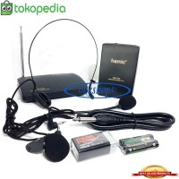 Homic HM-709 Wireless Microphone Mic CLIP ON + Headset