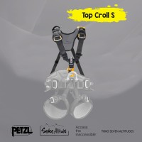 Top Croll S Petzl Chest harness for seat harness
