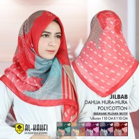 Jilbab Kerudung Hijab Segi Empat Azara Viktoria Pollycotton Motif
