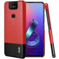 SS12330 - IMAK RUIYI LEATHER PC CASE ASUS ZENFONE 6 ZS630KL RED