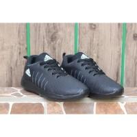 Barang Ready Sepatu Sneakers Running Adidas Cloudfoam 3 Full Hitam Cow