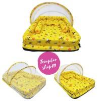 kasur bayi set kelambu bantal guling model kolam lebah kuning