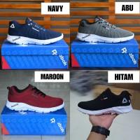 Sepatu Sport Pria Reebok Crossfit Sneakers Running Olahraga Maroon