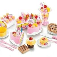 mainan anak perempuan/kue ulang tahun potong/kue tiup 75pc