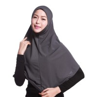 Kerudung Jilbab Instan Isaura Muslim Women Plain Long Hijab Head kerch