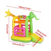 HJR Inflatable Bounce Castle House Kids Children Slide Climb